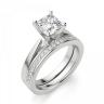 Кольцо с бриллиантом кушон из белого золота, Изображение 5