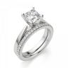 Кольцо с бриллиантом кушон из белого золота, Изображение 6