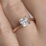 Кольцо с бриллиантом кушон из белого золота, Изображение 7