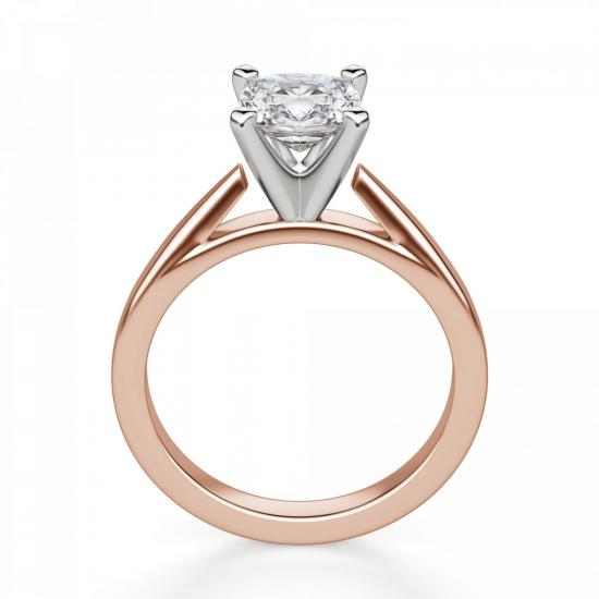 Кольцо с бриллиантом кушон,  Больше Изображение 2