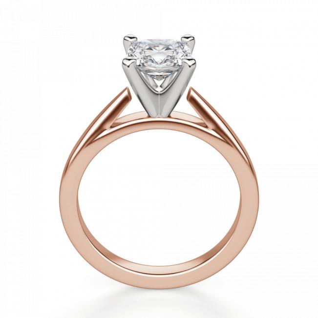 Кольцо из розового золота с бриллиантом кушон - Фото 1