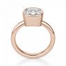 Кольцо с бриллиантом кушон в розовом золоте, Изображение 2