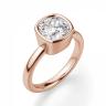 Кольцо с бриллиантом кушон в розовом золоте, Изображение 3