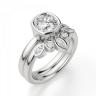 Кольцо с бриллиантом кушон из белого золота в глухой закрепке, Изображение 5