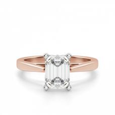 Кольцо с бриллиантом эмеральд из розового золота