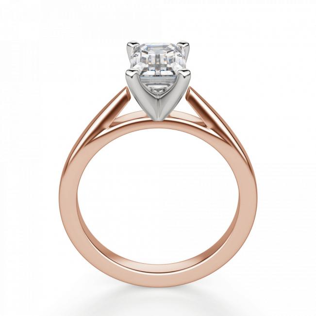 Кольцо с бриллиантом эмеральд из розового золота - Фото 1