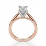 Кольцо с бриллиантом эмеральд из розового золота, Изображение 2