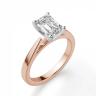 Кольцо с бриллиантом эмеральд из розового золота, Изображение 3