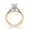 Кольцо с бриллиантом эмеральд из золота, Изображение 2