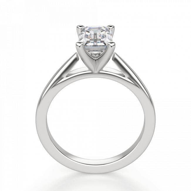Кольцо с бриллиантом эмеральд из белого золота