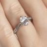 Кольцо с овальным бриллиантом 6 лапок паве, Изображение 7