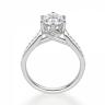 Кольцо с овальным бриллиантом 6 лапок паве, Изображение 2