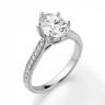 Кольцо с овальным бриллиантом 6 лапок паве, Изображение 3
