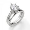 Кольцо с овальным бриллиантом 6 лапок паве, Изображение 4