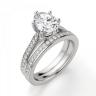 Кольцо с овальным бриллиантом 6 лапок паве, Изображение 5