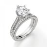 Кольцо с овальным бриллиантом 6 лапок паве, Изображение 6