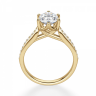 Кольцо золотое с овальным бриллиантом в 6 крапанах паве, Изображение 2