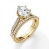Кольцо золотое с овальным бриллиантом в 6 крапанах паве, Изображение 6