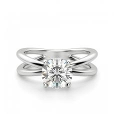 Кольцо дизайнерское с 1 бриллиантом
