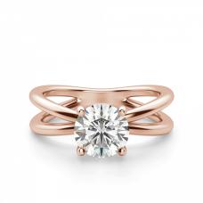 Кольцо из розового золота X с бриллиантом