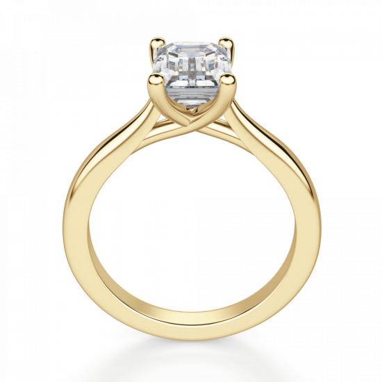 Кольцо золотое с бриллиантом эмеральд,  Больше Изображение 2