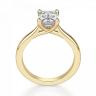 Кольцо золотое с бриллиантом эмеральд, Изображение 2