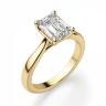 Кольцо золотое с бриллиантом эмеральд, Изображение 3