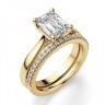 Кольцо золотое с бриллиантом эмеральд, Изображение 6