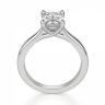 Кольцо классическое с бриллиантом эмеральд, Изображение 2