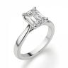 Кольцо классическое с бриллиантом эмеральд, Изображение 3