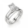 Кольцо классическое с бриллиантом эмеральд, Изображение 4