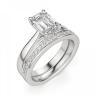Кольцо классическое с бриллиантом эмеральд, Изображение 5