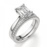 Кольцо классическое с бриллиантом эмеральд, Изображение 6