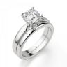 Кольцо классическое с бриллиантом кушон, Изображение 4