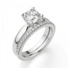 Кольцо классическое с бриллиантом кушон, Изображение 6