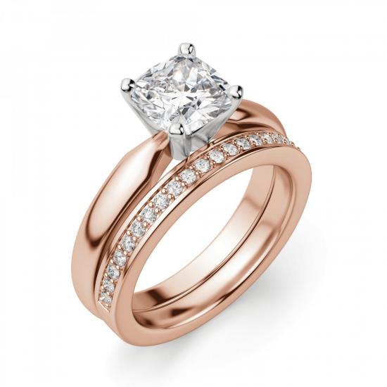 Кольцо с бриллиантом кушон,  Больше Изображение 5