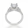 Кольцо с центральным бриллиантом и 5 бриллиантами по бокам, Изображение 2