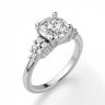 Кольцо с центральным бриллиантом и 5 бриллиантами по бокам, Изображение 3