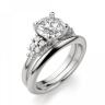 Кольцо с центральным бриллиантом и 5 бриллиантами по бокам, Изображение 4