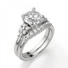 Кольцо с центральным бриллиантом и 5 бриллиантами по бокам, Изображение 5