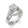 Кольцо с центральным бриллиантом и 5 бриллиантами по бокам, Изображение 6