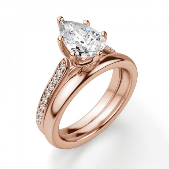 Кольцо с бриллиантами Груша,  Больше Изображение 4