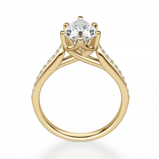 Кольцо с бриллиантами,  Больше Изображение 2