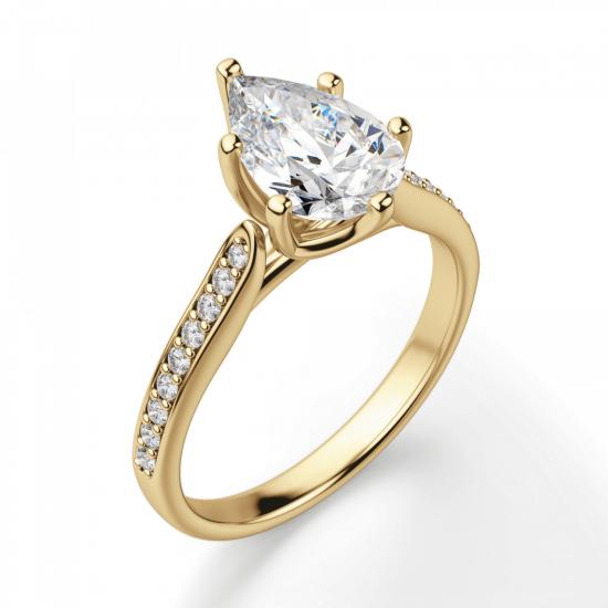 Кольцо с бриллиантами,  Больше Изображение 3