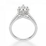 Кольцо с бриллиантом Груша и боковыми бриллиантами, Изображение 2