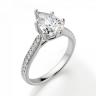 Кольцо с бриллиантом Груша и боковыми бриллиантами, Изображение 3