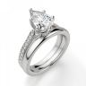 Кольцо с бриллиантом Груша и боковыми бриллиантами, Изображение 4