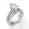Кольцо с бриллиантом Груша и боковыми бриллиантами, Изображение 5