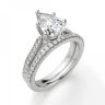 Кольцо с бриллиантом Груша и боковыми бриллиантами, Изображение 6