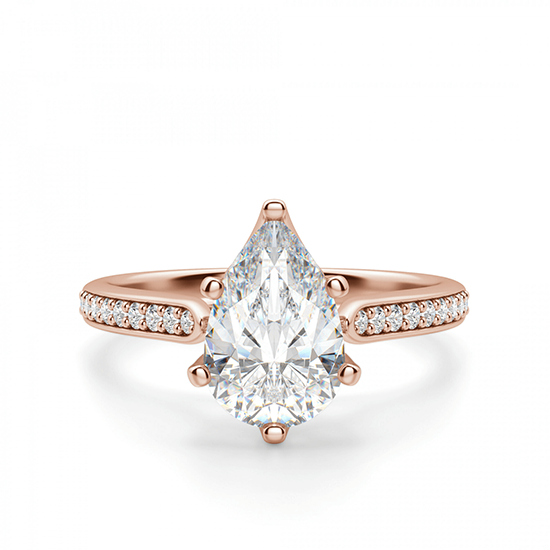 Кольцо с бриллиантами Груша, Больше Изображение 1
